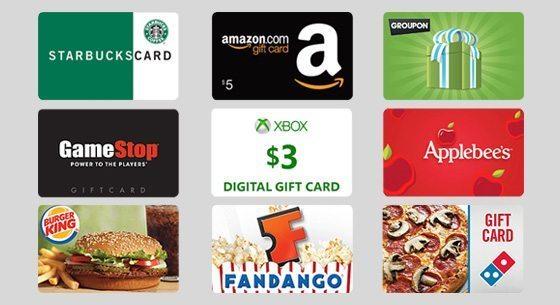 bing rewards gift cards