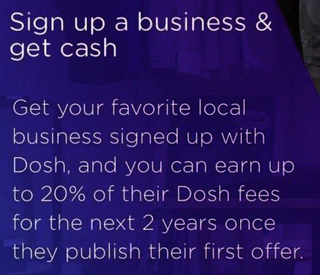 dosh app review refer a business