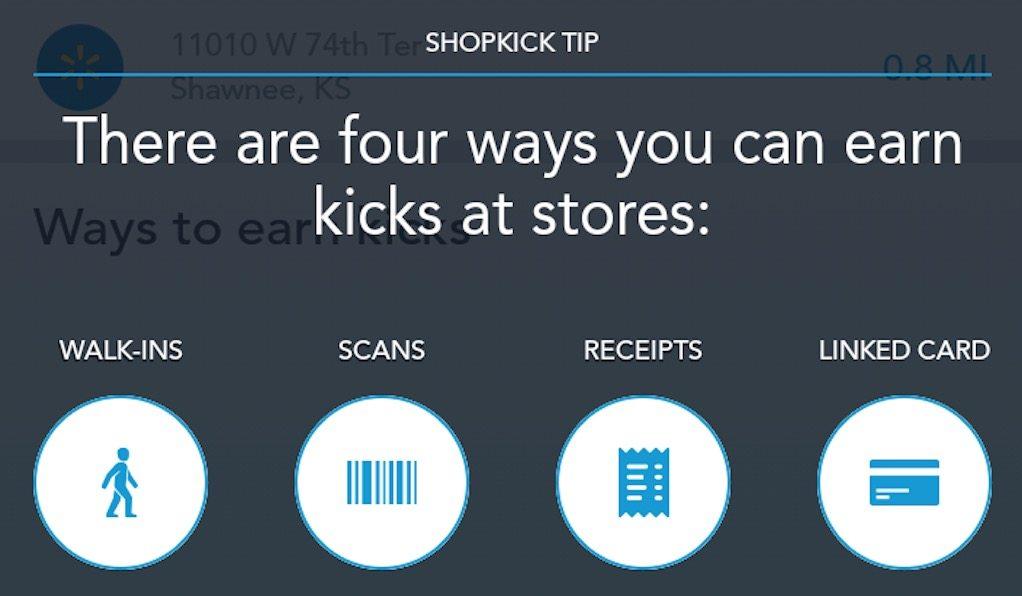 shopkick review app earn kicks walmart