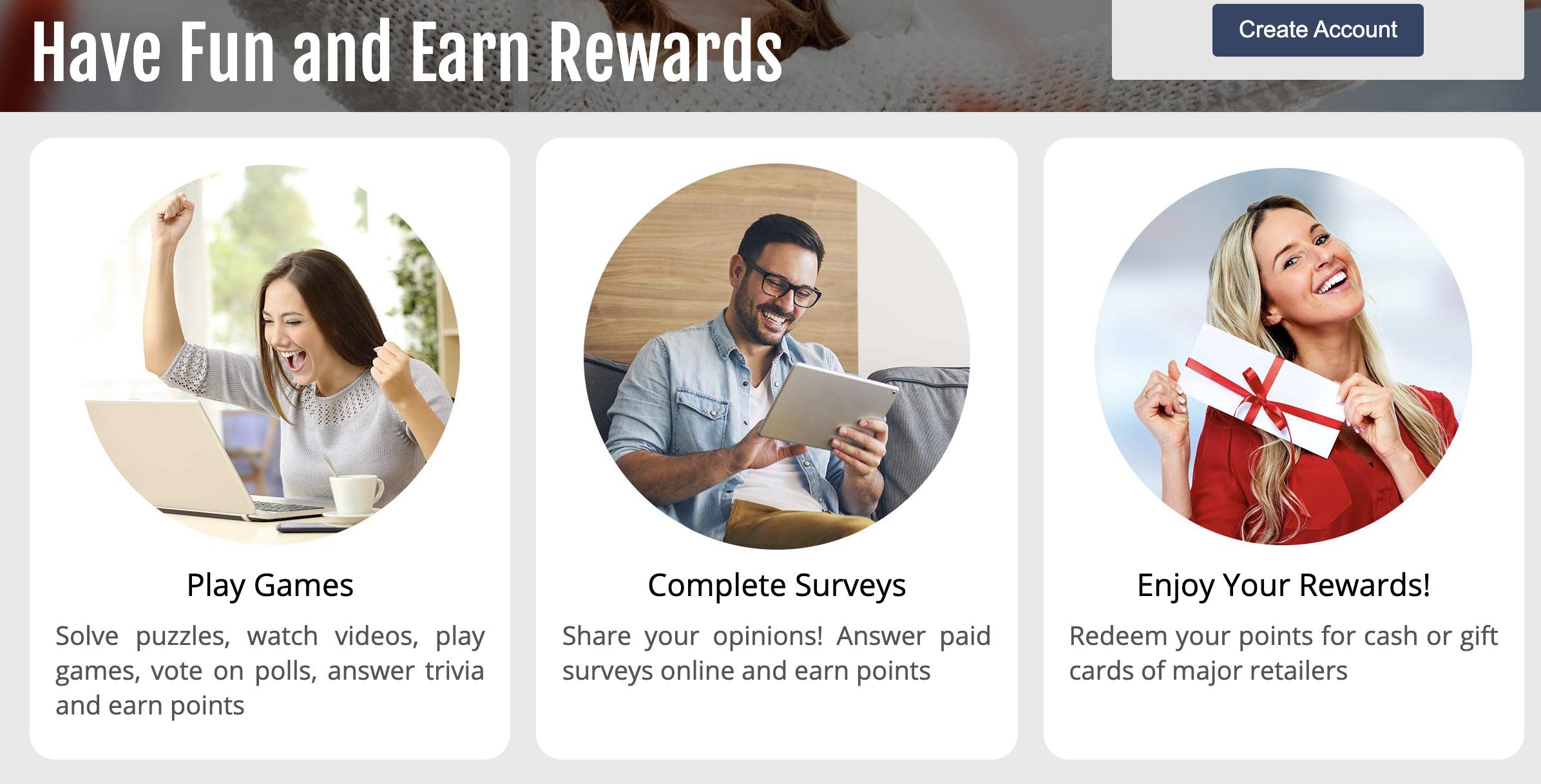 have fun and earn rewards with rewardia
